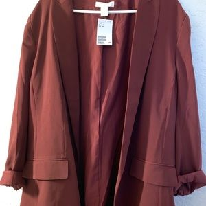 Maroon H&M Blazer - NEW WITH TAGS